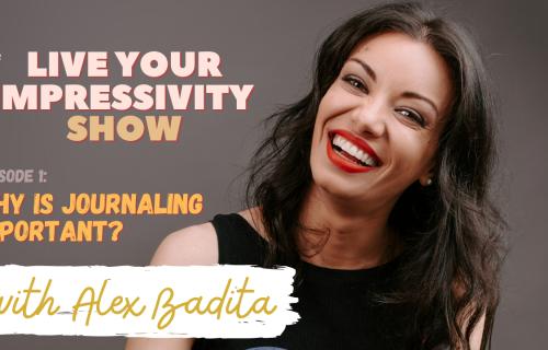podcast cover live your impressivity show episode 1